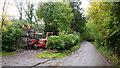 SO6869 : Two elderly tractors by Jonathan Billinger