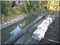 SP2763 : Flood alleviation work in progress below Fisher's Bridge by Robin Stott
