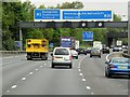 TQ0266 : Sign Gantry over Clockwise M25 by David Dixon