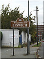 TM1444 : Welcome to Ipswich sign by Adrian Cable