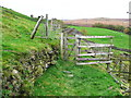 SE0510 : Kissing gate on the old route of the Colne Valley Circular Walk by Humphrey Bolton