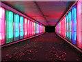 NZ2775 : Illuminated Subway near Cramlington, Northumberland by Andrew Tryon