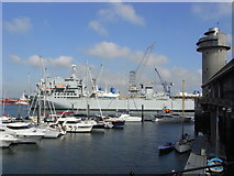 SW8132 : Falmouth Docks and National Maritime Museum by Chris Allen