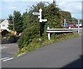 ST3363 : Old-style road signpost in Kewstoke by Jaggery
