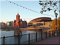 ST1974 : Late afternoon sun, Cardiff Bay by Robin Drayton