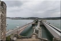 SH7877 : Conwy bridges by Ian Capper