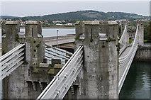 SH7877 : Conwy Suspension Bridge by Ian Capper
