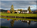 NN1784 : Cottages beside Caledonian Canal at Gairlochy by Trevor Littlewood
