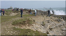 SY6768 : People flock to Portland Bill during storm by sue hogben