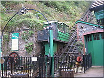 SS7249 : Lynton & Lynmouth Cliff Railway by M J Richardson