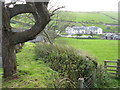 SS7449 : The Blue Ball Inn from Countisbury churchyard by M J Richardson