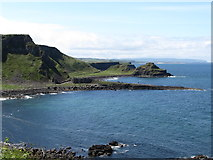 C9444 : The Giant's Causeway from the path to Port Reostan by Eric Jones
