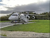 SJ8184 : Avro RJX, Manchester Airport Runway Visitor Park by David Dixon