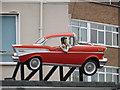 SJ3350 : Elvis and a 1957 Chevrolet BelAir by John S Turner