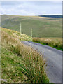 SN7657 : Mountain road to Abergwesyn, Ceredigion by Roger  Kidd