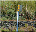 J3478 : Railway milepost, Belfast by Albert Bridge