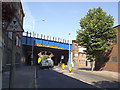 TQ3379 : Repainted railway bridge by Stephen Craven