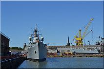 SJ3288 : Birkenhead Shipyard by John Robertson