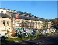 ST7565 : Scaffolding and graffiti in Bath by Jaggery