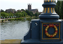 SO8454 : Worcester Cathedral and the River Severn by Mat Fascione