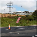 ST4187 : Kegs and a pylon near Magor by Jaggery