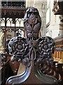 NZ2464 : St. Andrew's Church, Newgate Street, NE1 - carved finial, choir stalls by Mike Quinn