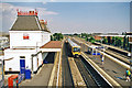 TQ0179 : Langley (Bucks.) station: Up the Relief lines, 1999 by Ben Brooksbank