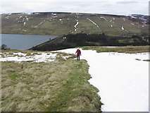 SE0676 : Snow filled Nidderdale Way, SE of Scar House Reservoir by Colin Park