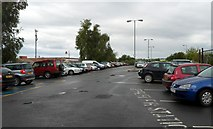 SP1955 : Railway station car park in Stratford-upon-Avon by Jaggery