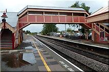 SP1955 : Railway station footbridge, Stratford-upon-Avon  by Jaggery