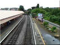 SP1955 : From railway station footbridge to Alcester Road bridge, Stratford-upon-Avon by Jaggery