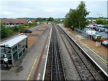 SP1955 : View north from Stratford-upon-Avon railway station footbridge by Jaggery