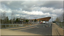 TQ3785 : View of the Velodrome from Queen Elizabeth Olympic Park by Robert Lamb