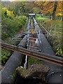 SH7667 : Water pipeline at Dolgarrog by Richard Hoare