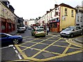 H4472 : Box junction along John Street, Omagh by Kenneth  Allen