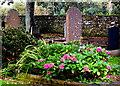 G6742 : Drumcliffe - Colourful Gravesite & Churchyard Walls NE of St Columba's Church by Joseph Mischyshyn