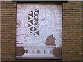 TQ3280 : Rose Window reproduced on tiles by Stephen Craven