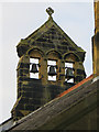 TA0094 : Triple bell cote on St Mary's church, Cloughton by John S Turner