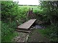 NS2414 : On Ayrshire Coastal Path. Footbridge over stream, S of Dunure by Colin Park