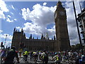 TQ3079 : Cycling towards the Mother of Parliaments by Stephen Craven