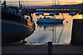 SX9372 : Boats at low tide, Teignmouth harbour, sunset by Robin Stott