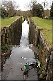 ST2896 : Former locks, Monmouthshire and Brecon Canal by Philip Halling