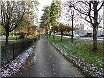 H4573 : Frosty footpath, Omagh by Kenneth  Allen