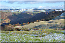 SN7078 : Snow and frost above the Rheidol valley by Nigel Brown