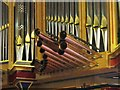 NZ2463 : St. Mary's Cathedral, Clayton Street West, NE1 - organ (detail) by Mike Quinn