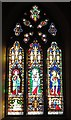 NZ2463 : St. Mary's Cathedral, Clayton Street West, NE1 - stained glass window by Mike Quinn