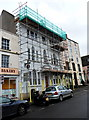 ST7593 : Scaffolding on NatWest in Wotton-under-Edge by Jaggery