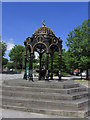 SO0405 : Ironwork fountain by St Tydfil's Old Parish Church, Merthyr Tydfil by Colin Park