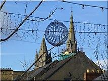 H4572 : Christmas globe, Omagh by Kenneth  Allen