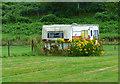 SO8168 : Old caravan at Winnall Caravan Park by Mat Fascione